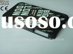 for iphone 4 case/hard case+water transfer printing+rubbrized