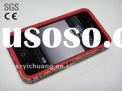 for iphone accessories/hard case+water transfer printing+rubbrized