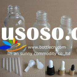 frosted glass bottle dropper cap