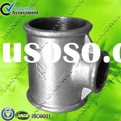 galvanized malleable cast iron pipe fittings tee