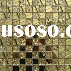 gold mirror crystal Glass mosaic Tile MU27--best for a place of entertainment decoration