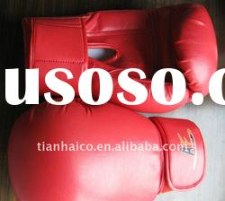 high quality leather professional boxing gloves