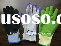 industrial latex coated working safety gloves (nylon)