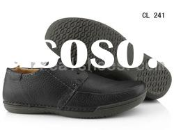 latest trendy genuine leather men casual shoes 2012