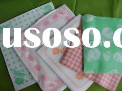 long-run supply high-quality printing airlaid table cloth / table napkin / cleanroom wipe