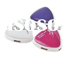 mini heart shape 4 port USB hub funcy design
