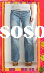 new fashion women bootcut denim jeans new arrival high quality blue flared jeans for women