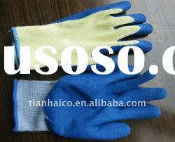 nitrile latex coated glove on palm(polyester lined)workplace glove