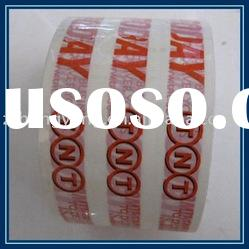opp adhesive printed packing tape with white color