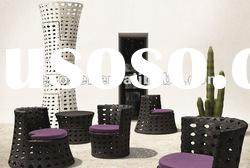 outdoor furniture rattan coffee shop table and chair
