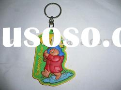 plastic cartoon keychain, bear keyring