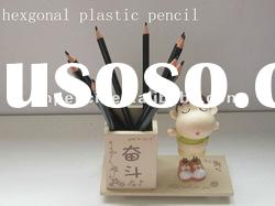 plastic hexagonal pencils student drawing pencils
