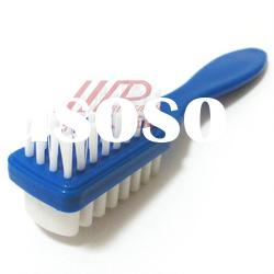 plastic suede double side shoe brush with pp bristle(1209-P)