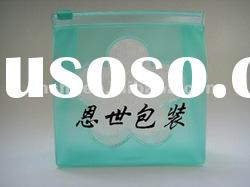 pvc zipper bag for cosmetic packaging