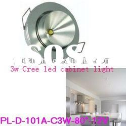 recessed cree 3w 12v under cabinet led lighting