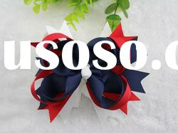 red white and navy blue mixed color hair bows