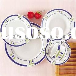 round porcelain dinner set with nice decal , ceramic dinnerware