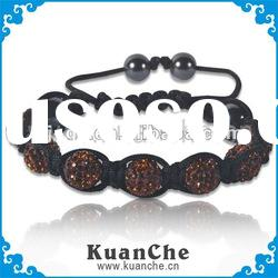 shining fashion leather bracelet jewelry