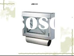 stainless steel and glass letter box