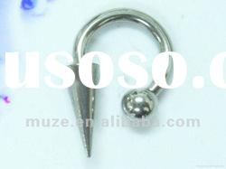 surgical steel barbell labret ring body piercing