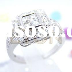 very sepcial design high polished hand setting AAA grade cz fashion 925 silver ring jewelry (R5938)