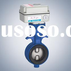 wafer electric butterfly valve with actuators ( CE and ISO)