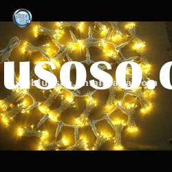 yellow LED wall light Indoor decoration curtain