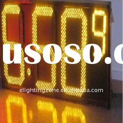 yellow gas station led price sign