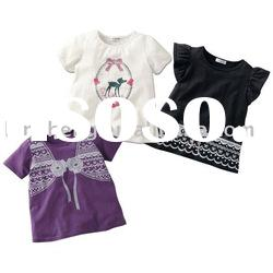 100%cotton lovely baby t-shirts, baby wear,baby garment