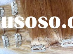 10-40inch top quality Human Hair Extension/Clip on Hair Extension