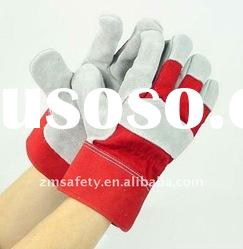 10.5'' Full Palm Cow Split Leather Working Glove