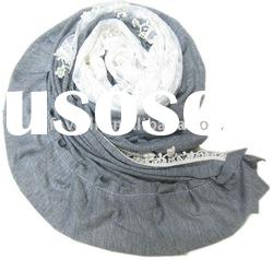 2011 Newest Fashion Acrylic Scarf With Lace