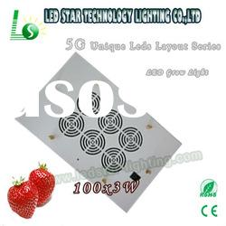 2012 5G penetration high power 3w chip 100w led grow lights for flowering/budding/seedling/clone/veg
