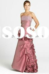 2012 Elegant &beautiful beaded with hand-made flower Mother of the bride Dresses/Gown