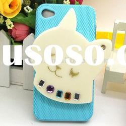 2012 Hard pc 3D case covers for iphone 4 4G 4S 4GS with cute cartoon gril mirror