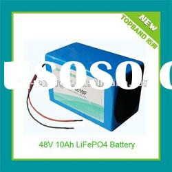 2012 New Arrival 48V10A Electric Scooter Battery Pack with Charger and PCM Protection