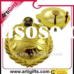 2012 gold plating army badges metal
