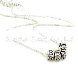 2012 hot selling best friends alloy pendant necklace
