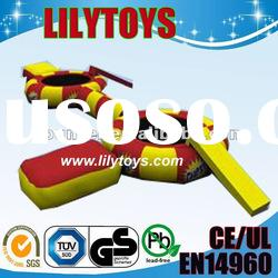 2012 new promotion---inflatable bridge combing water trampoline
