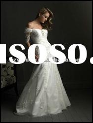 2012 new style off the shoulder long sleeved wedding dresses