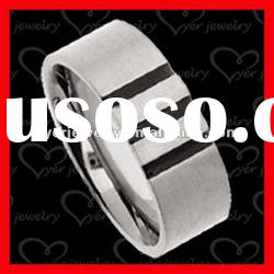 2012 wholesale fashion stainless steel rings/Laser etched