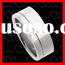2012 wholesale fashion stainless steel rings/ brushed & polished