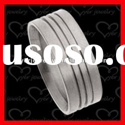 2012 wholesale fashion stainless steel rings with grooves