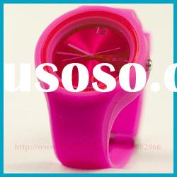 2034 Wholesale New Style fashion geneva silicone jelly watch