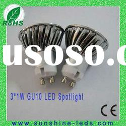 3W White 3leds GU10/E27 3w gu10 high power led spotlight Bulb spot light 85-265v