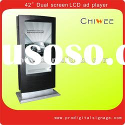 42 inch Floor standing LCD advertising player dual screen display
