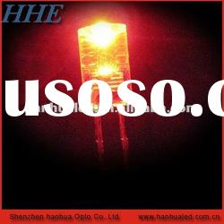 5mm red flat top led diode 1.8-2.2v 20mA
