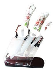 5pc high quality kitchen knife set with acrylic block(hs)