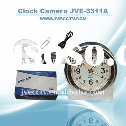 8GB HD Video dvr, hidden clock camera JVE-3311A with SD card