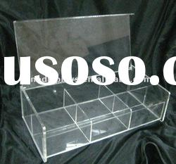 Acrylic storage divided box with cover (AD-A-0121)